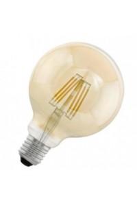 Cветодиодная лампа филаментная G95, 1х4W (E27), Ø95, L145, 2200K, 220lm, янтарь