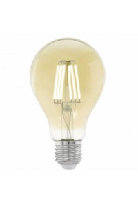 Cветодиодная лампа филаментная A75, 1х4W (E27), Ø75, L106, 2200K, 220lm, янтарь