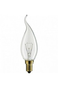 Лампочка накаливания Philips Deco 40W E14 230V BXS35 CL 1CT/4X5
