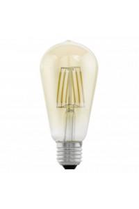 Лампочка светодиодная Eglo ST64, 1х4W (E27), Ø64, L140, 2200K, 220lm, янтарь