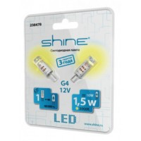 Лампочка светодиодная  Shine G4 12V 1,5W 4000K 238479
