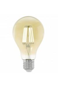 Лампочка светодиодная Eglo A75, 1х4W (E27), Ø75, L106, 2200K, 220lm, янтарь