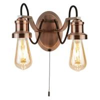 Настенный светильник Searchlight Olivia 1062-2CU