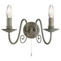 Настенный светильник Searchlight Greythorne 3362-2GY