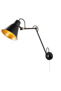 Настенный светильник Searchlight Wall 7403BK
