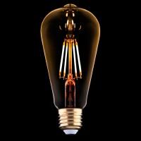 Лампа светодиодная E27 4W 2200K прозрачная 9796