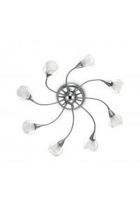 Потолочный светильник Ideallux TENDER PL8 TRASPARENTE 004211