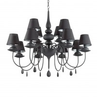 Люстра Ideallux BLANCHE SP12 NERO 097800