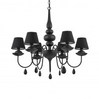 Люстра Ideallux BLANCHE SP6 NERO 111872