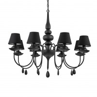 Люстра Ideallux BLANCHE SP8 NERO 111896