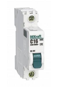 Автоматический выключатель DEKraft 11054DEK 1Р 16А C ВА-101 4,5кА
