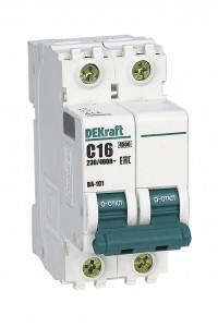 Автоматический выключатель DEKraft 11066DEK 2Р 16А C ВА-101 4,5кА