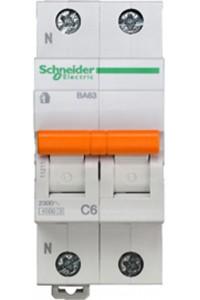 Автоматический выключатель Домовой 11211 ВА63 1П+Н 6A C 4,5 кА