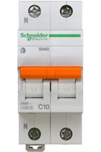 Автоматический выключатель Домовой 11212 ВА63 1П+Н 10A C 4,5 кА