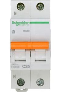 Автоматический выключатель Домовой 11215 ВА63 1П+Н 25A C 4,5 кА