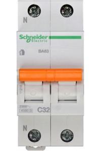 Автоматический выключатель Домовой 11216 ВА63 1П+Н 32A C 4,5 кА