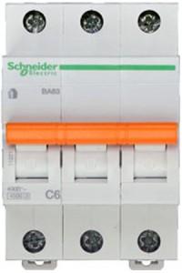 Автоматический выключатель Домовой 11221 ВА63 3П 6A C 4,5 кА