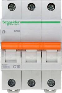 Автоматический выключатель Домовой 11222 ВА63 3П 10A C 4,5 кА