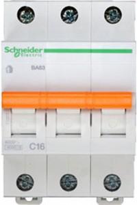 Автоматический выключатель Домовой 11223 ВА63 3П 16A C 4,5 кА