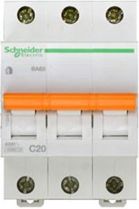 Автоматический выключатель Домовой 11224 ВА63 3П 20A C 4,5 кА