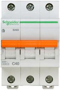 Автоматический выключатель Домовой 11227 ВА63 3П 40A C 4,5 кА