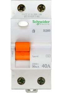 Дифференциальный выключатель нагрузки Домовой 11452 ВД63 2П 40A 30MA АС
