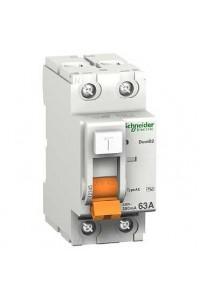 Дифференциальный выключатель нагрузки Домовой 11455 ВД63 2П 63A 30MA АС