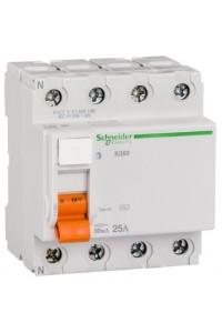 Дифференциальный выключатель нагрузки Домовой 11460 ВД63 4П 25A 30MA АС