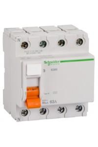 Дифференциальный выключатель нагрузки Домовой 11466 ВД63 4П 63A 30MA АС