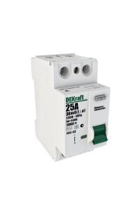 Дифференциальный выключатель нагрузки DEKraft 14054DEK 2P 25А 30мА AC УЗО-03 6кА