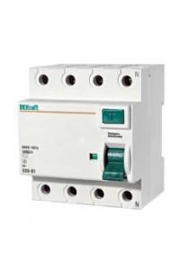 Дифференциальный выключатель нагрузки DEKraft 14080DEK 4P 40А 30мА AC УЗО-03 6кА