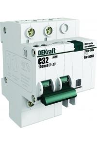 Дифференциальный автомат DEKraft 15002DEK 2Р 10А 30мА AC С ДИФ-101 4,5кА
