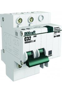 Дифференциальный автомат DEKraft 15005DEK 2Р 25А 30мА AC С ДИФ-101 4,5кА