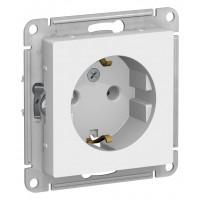 Розетка AtlasDesign ATN000143 с заземлением без шторок, белый