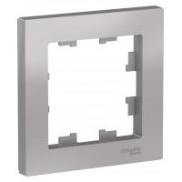 Рамка AtlasDesign ATN000301 1-постовая, алюминий