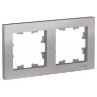 Рамка AtlasDesign ATN000302 2-постовая, алюминий