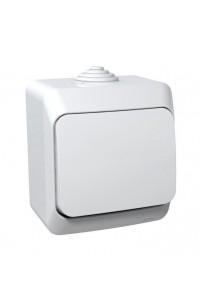 Выключатель Этюд BA10-041B IP44 10A открытая установка, белый
