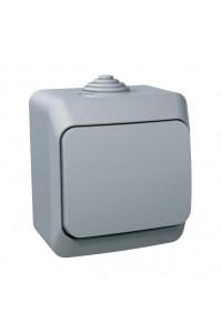 Выключатель Этюд BA10-041C IP44 10A открытая установка, серый