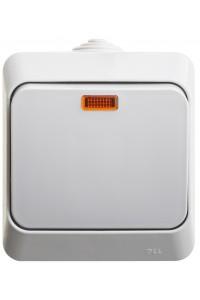Выключатель Этюд BA10-045C с/инд. IP44 10A открытая установка, серый