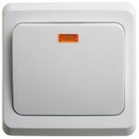 Выключатель Этюд BC10-005B с/инд. 10A скрытая установка, белый