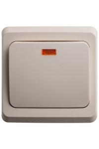Выключатель Этюд BC10-005K с/инд. 10A скрытая установка, кремовый