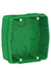 Коробка монтажная Blanca BLNMK000001, для силовых розеток, зелёный