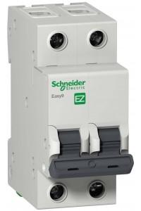 Автоматический выключатель Easy9 EZ9F34250 2П 50A C 4,5 кА