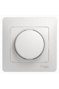 Диммер поворотный Glossa GSL000134 300ВА клавишный с рамкой, белый