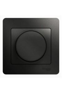 Диммер поворотный Glossa GSL000734 300ВА клавишный с рамкой, антрацит