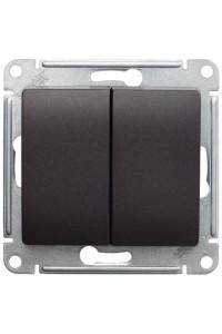 Переключатель Glossa GSL000865 2-клавишный, шоколад