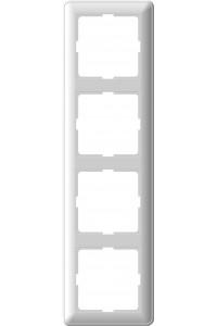 Рамка W59 KD-4-18 4-постовая, белый