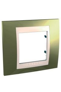 Рамка Unica Хамелеон MGU66.002.504 1-постовая, золото/бежевый