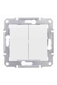 Переключатель Sedna SDN0600121 2-клавишный 10A, белый