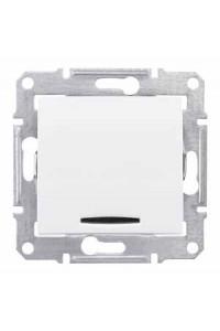 Переключатель Sedna SDN1500121 с/подсв 10A, белый